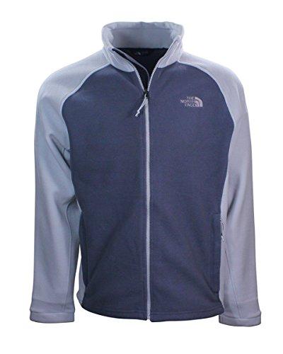 The North Face Men's M Samlet RTO Full Zip Fleece Jacket (Large, Vanadis Grey/Light Grey)
