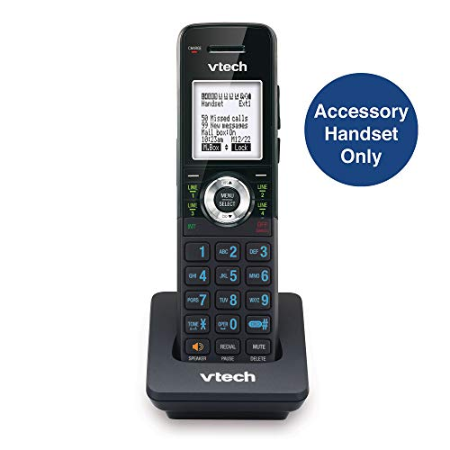 VTech AM18047 Accessory Cordless Handset, Black | Requires a VTech 4-Line Expandable Small Business Office Phone System to ()