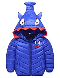 Happy Cherry Toddler Winter Down Coat Hood Cotton Puffer Jacket Windproof Outercoat