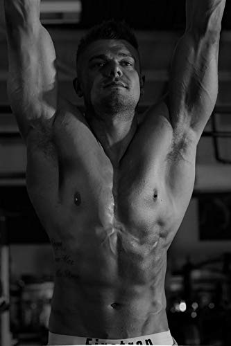 3c113f281e9b Amazon.com: Photography Poster - Model, Workout, Gym, Abs, Muscle ...