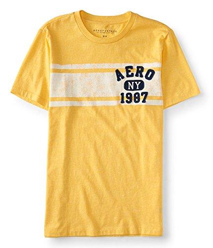 Aeropostale Mens Stripe Graphic Shirt