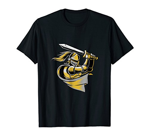 Golden Colored Knight With A Sword T-Shirt