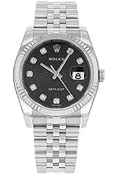 Rolex Datejust 116234 BKJDJ 18K White Gold & Stainless Steel Automatic Men's Watch