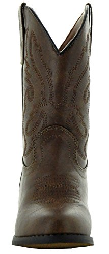 Country Love Little Rancher Kids Cowboy Boots K101-1001 (4, Brown) by Country Love Boots (Image #1)