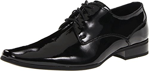 Calvin Klein Men's Brodie Oxford Shoe, Black Patent, 11 M US (Rounded Toe Oxford Shoes)