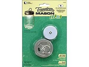 Ball Jars BLL1036302 Ball Transform Mason Jar LED Lidwith Hanger Mini Jar LED Lid