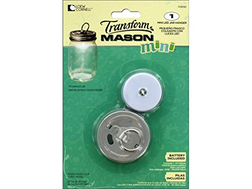 Ball Jars BLL1036302 Ball Transform Mason Jar LED Lidwith Hanger Mini Jar LED Lid
