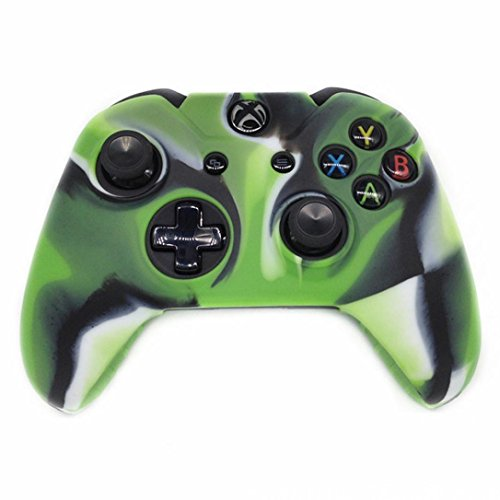 Price comparison product image Clearance !  Ninasill  Exclusive Soft Camouflage Silicone Case Cover For Xbox One Wireless Controller (Green)
