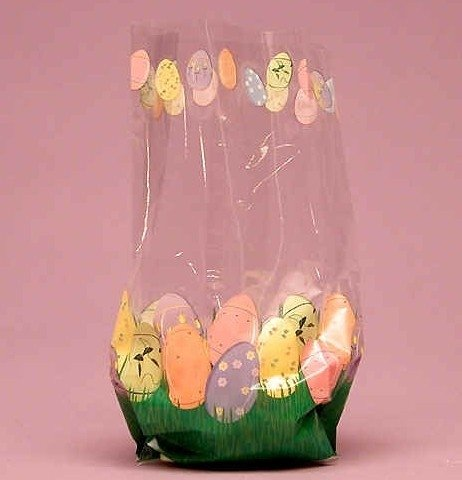 Easter Eggs Cello Bags, Pack of 25 Great for Easter