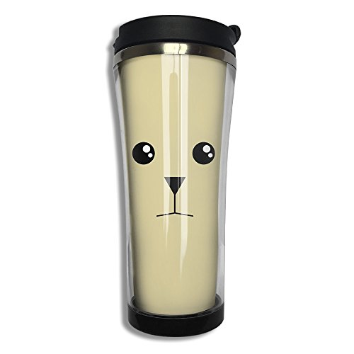 EQQ Bear Flip Top Lid Double Wall Stainless Steel Cup Hot Cold Tumbler With Liquid Tight Travel Coffee Mug Vacuum Sealed Tumbler Drink (Series Pourer)