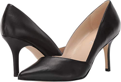 Marc Fisher Tuscany Medium-Heel Classic Pumps, Black Leather, 7 US