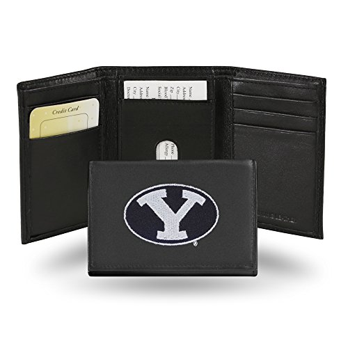 Rico Industries NCAA BYU Cougars Embroidered Leather Trifold Wallet ()