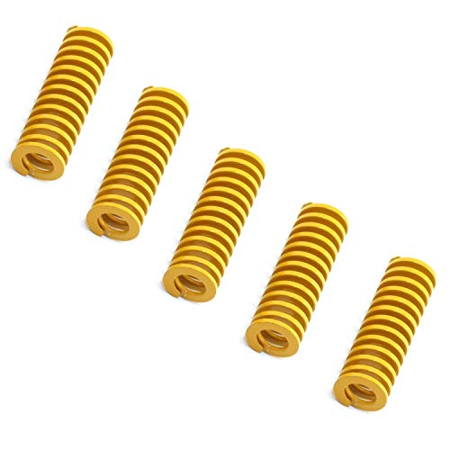 DGZZI 5PCS Yellow Mould Die Spring 0.31 in OD 0.78 in Length Extruder Strong Spring Light Load Heatbed Glass Platform Leveling Spring 3D Printer Motherboard Accessaries