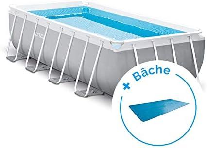 Pack piscina tubular Intex Prism Frame 4,88 x 2,44 x 1,07 m + – lona: Amazon.es: Deportes y aire libre