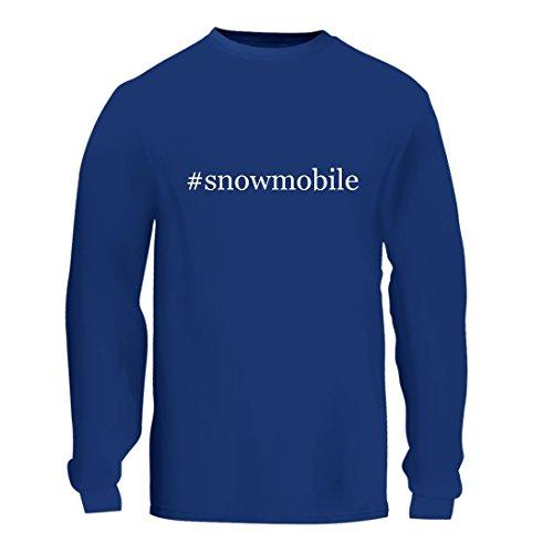 #snowmobile - A Nice Hashtag Men's Long Sleeve T-Shirt Shirt, Blue, Large