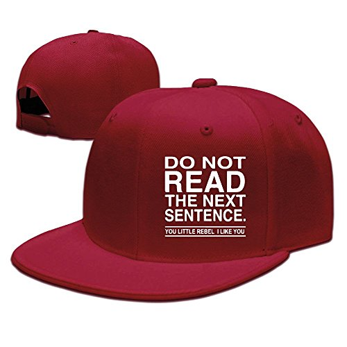 Rebels Straw Cowboy Hat (XiaoHans Men's Do Not Read The Next Sentence You Rebel Funny Basketball Red Cap Adjustable Snapback)