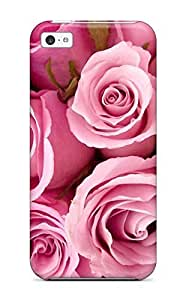 Premium Special Pink Roses Heavy-duty Protection Case For Iphone 5c