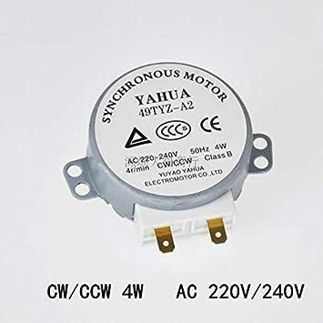 Xia Fly - 1 Motor de microondas CW/CCW 4 W 50/60 Hz 5/6 RPM ...