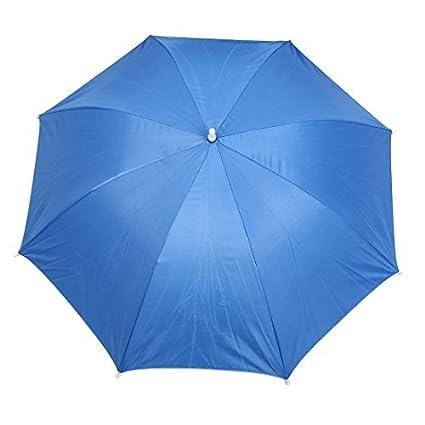 eDealMax Acampan yendo de la Playa Cinta elástica paraguas Sombrero Headwear Blue Sky