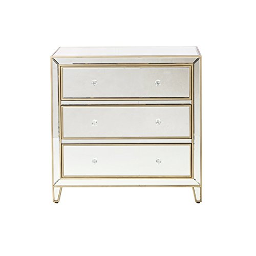 Mirrored Three Drawer Dresser by Design Tree Home