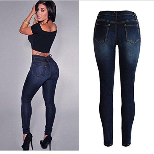 Jeans For Women Liraly Denim Skinny Jeans Stretch Pencil Trousers Slim Long Pants (Long Underwear Costume Idea)