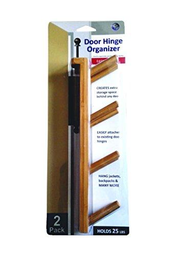 Bamboo Behind The Door Hinge Hook, 2pc set,