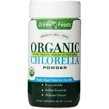Green Foods Organic Chlorella Powder, 2.1 Ounce
