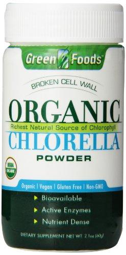 Aliments verts bio Chlorella poudre, 2,1 onces