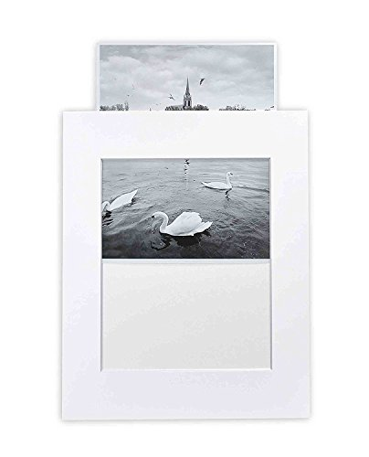 - Golden State Art, Pack of 10 White 11x14 Slip-in Pre-Adhesive Photo Mat for 8x10 Picture with Backing Board pre-Assembled, Includes 10 Clear Bags