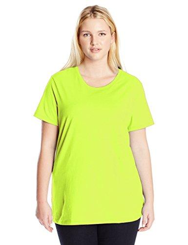 - Just My Size Women's Plus-Size Short Sleeve Crew Neck Tee, Lime Lantern, 2X