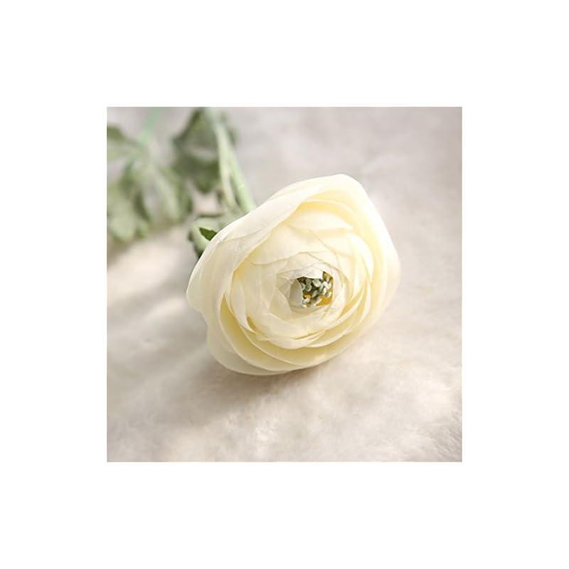 silk flower arrangements mynse 5 pieces 22.8 inch single silk peony artificial ranunculus posy lu lotus flower white