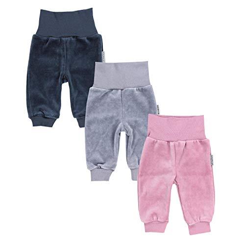 TupTam Baby Meisjes Broeken Lange Fluweel Sweatbroek Pakje van 3