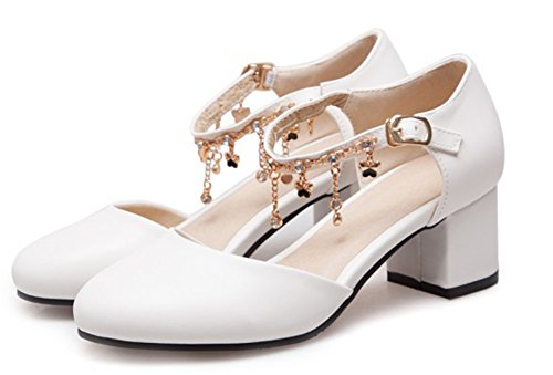 Chic Bride Femme Escarpins Aisun Blanc Franges Strass Cheville 5tSWw8qB