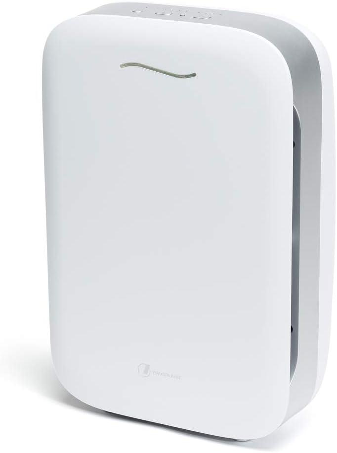 HAVERLAND Airpure | Purificador de Aire IONIZADOR | hasta 80m² | 1 Prefiltro + 2 Filtros | True HEPA + Carbón Activo | Desodorizante. Elimina Contaminantes y Alergenos | 5 Niveles