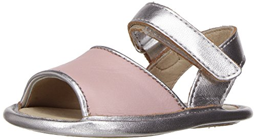 Old Soles Girls' Bambini Amalfi-K, Powder Pink/Silver, 18 A EU/1 A US Infant