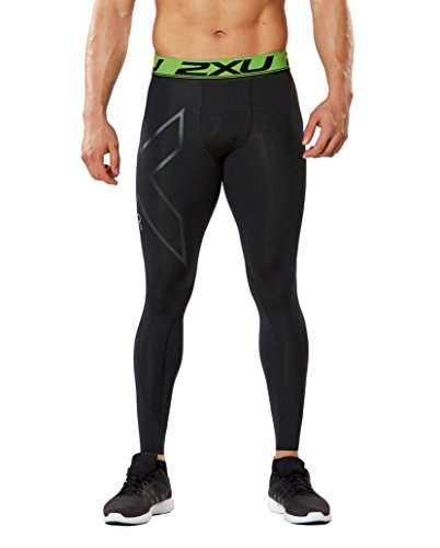 2XU Men's Refresh Recovery Compression Tights, Black/Nero, Large by 2XU (Image #1)