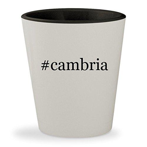 #cambria - Hashtag White Outer & Black Inner Ceramic 1.5oz Shot Glass