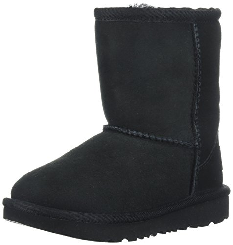 UGG Kids K Classic II Fashion Boot, Black, 6 M US Big Kid]()