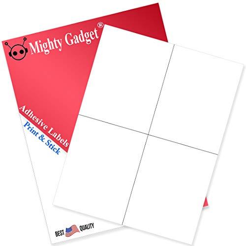 Sticker Paper - 50 Sheets - White Matte - 4.25