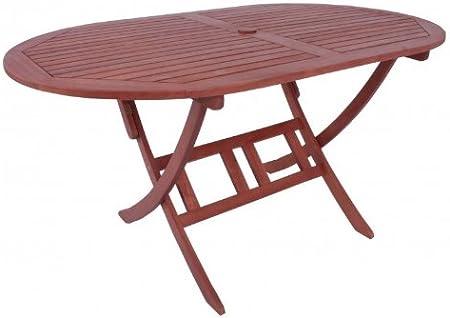 Multistore 2002 table de jardin ovale pliante en bois d ...