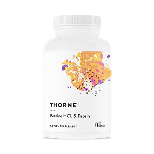 (Thorne Research - Betaine HCL & Pepsin - Digestive Enzymes for Protein Breakdown and Absorption - 225 Capsules)