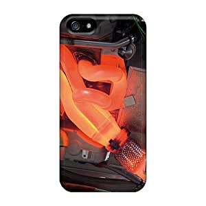 Tpu Case Cover Compatible For Iphone 5/5s/ Hot Case/ Red Hot Engine