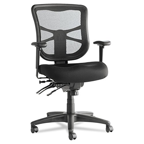 Series Mid Back Fabric Chair (Alera ALEEL42ME10B Elusion Series Mesh Mid-Back Multifunction Chair, Black)