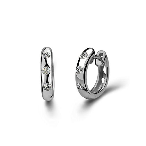 Blingery, orecchini in argento Sterling 925, zirconi, strass, per donne e ragazze, 13mm