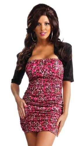 Rubie's Costume Co Jersey Shore Leopard Snooki Dress, Pink, -