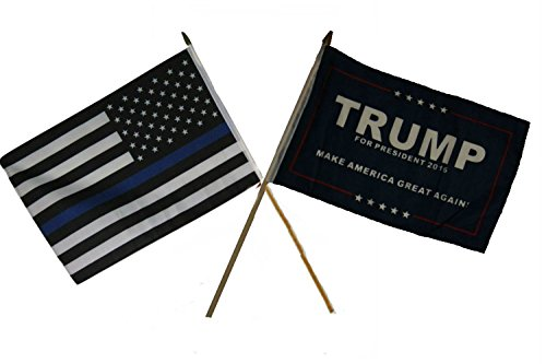 "12x18 12""x18"" Wholesale Combo USA Police Blue & Trump Presid"