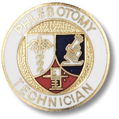 EMI Phlebotomy Technican Emblem Pin - Round - Emblems Pins