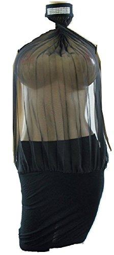 Jet Medium Ayanapa Damen Black Large Schwarz Kleid
