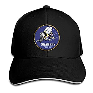 Bikini bag Seabee Adjustable Baseball Hat Dad Hats Trucker Hat Sandwich Visor Cap by Bikini bag