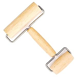 2 In 1 Wooden Pastry Pie Dough and Pizza Roller Kitchen Tool